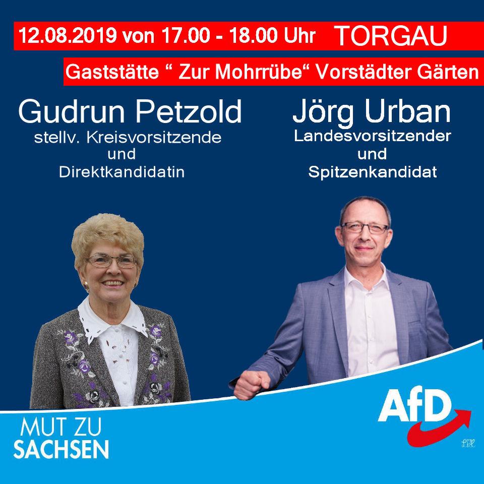 Wahlveranstaltung in Torgau