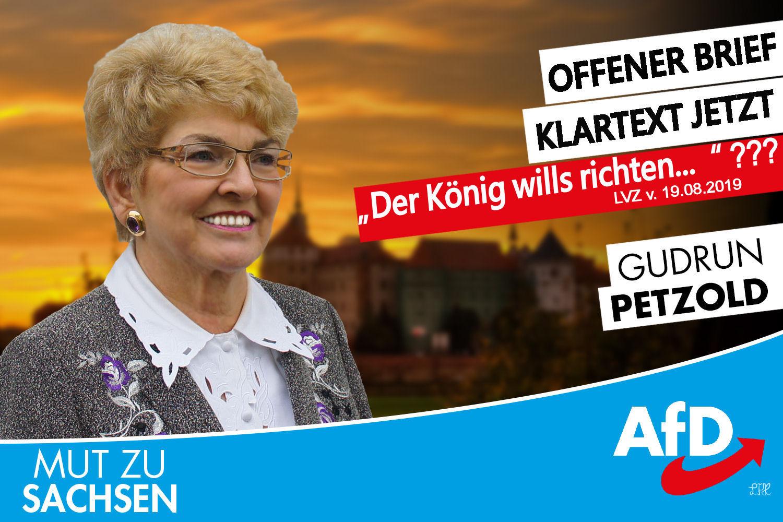 """Leserbrief zum Artikel """"Der König wills richten…"""" / LVZ v. 19.08.2019"""