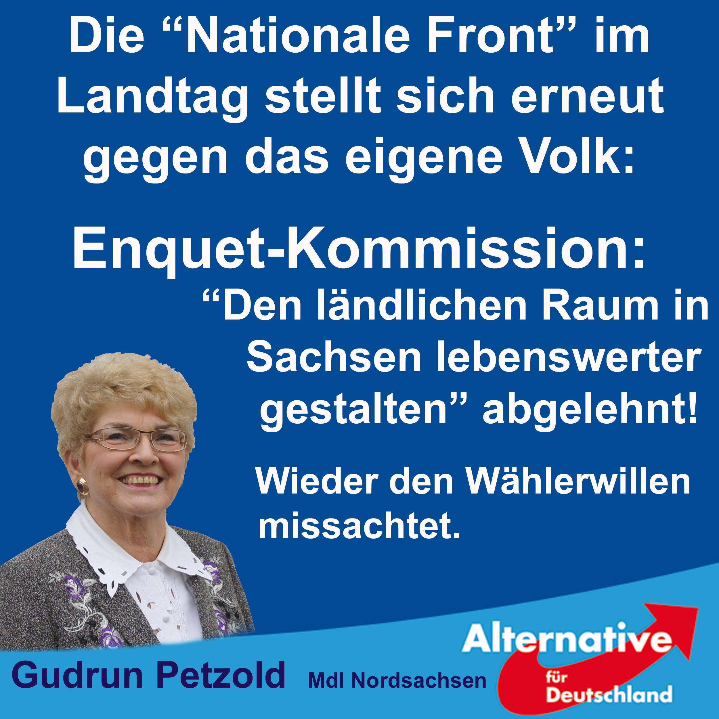 """""""Nationalen Front"""" stellt erneut wichtiges Sachthema hinten an"""