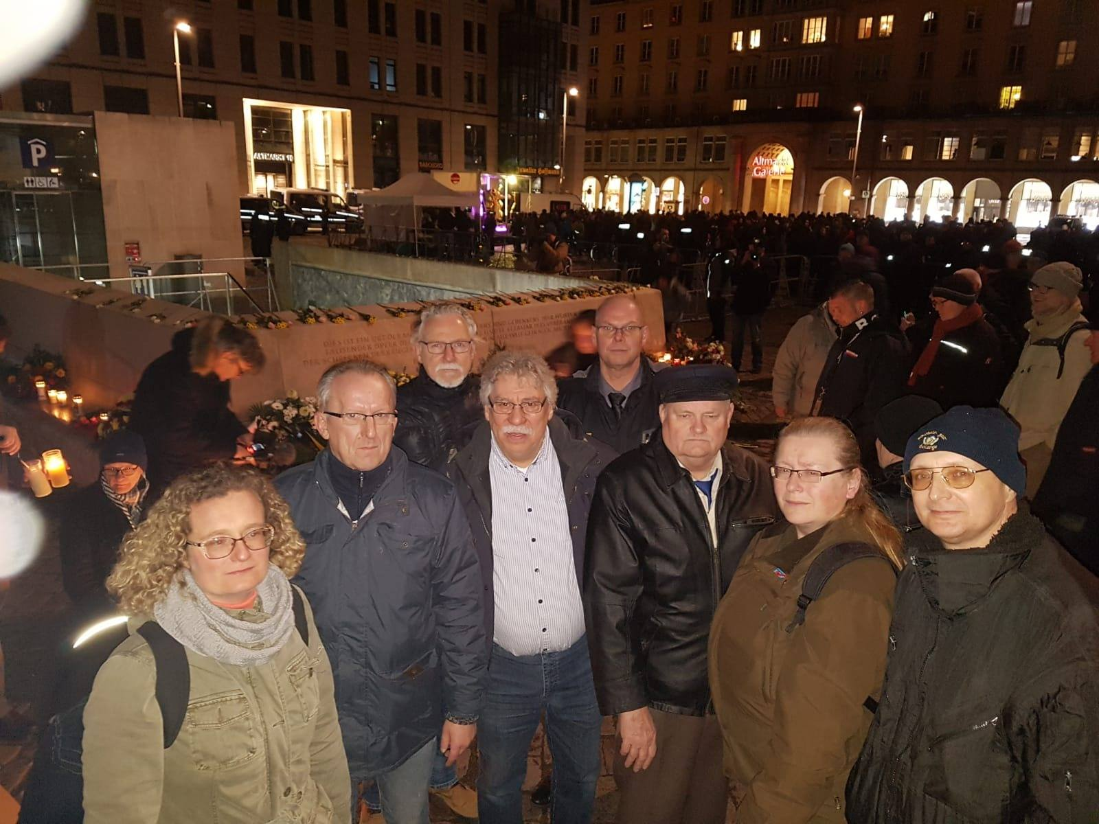 Gedenkfeier am 13.02.2020 in Dresden
