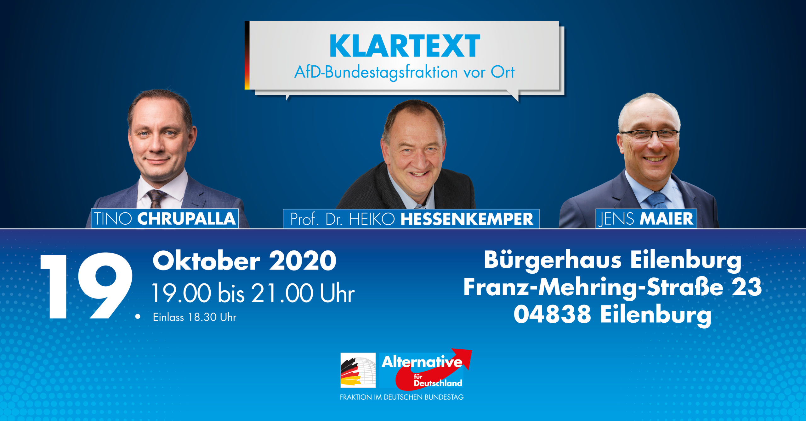 Klartext! Die AfD-Bundestagsfraktion vor Ort in Eilenburg